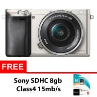 Sony Alpha A6000 Kit 16-50mm - 24 Mp - Silver + Sony SDHC 8gb