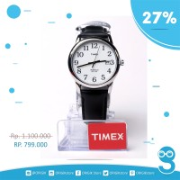 Jam Tangan Timex Men's T2h281 Black Leather Original
