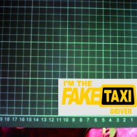 Cutting Sticker Fake Taxi sticker motor mobil