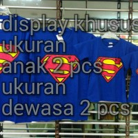 baju kaos pasangan keluarga couple family anak 2 mama papa superman