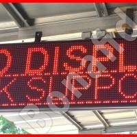 Running Text INDOOR Merah 128cm x 32cm (LED display tulisan berjalan)
