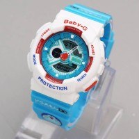 Jam Tangan Wanita / Gshock Baby G Doraemon ~ Dual Time ~ Fitur Lengkap