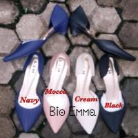 Sepatu Low Heels Jelly Shoes Wanita Cewek Bio Emma Karet Murah