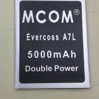 baterai cross/evercoss A7L double power merk mcom