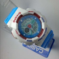 G-Shock Baby-G Doraemon White Blue (Jam Tangan Wanita Casio Ori Asli)