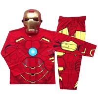 Jual Baju Anak (Topeng) Katun - Iron Man Murah