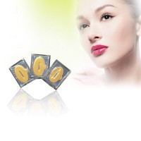 Jual Gold Collagen Lip Mask / Masker Bibir Melembabkan & Mempercantik Bibir Murah