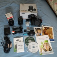 CANON EOS 550D Lensa Kit 18-55mm + Lensa Fix Canon 50mm F / 1.8 [FULLSET]
