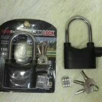 Gembok Alarm Anti Maling Sirine Merk Kinbar Alarm Lock