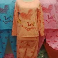Piyama Baju Tidur Setelan Celana Panjang Lengen Panjang Fit To L