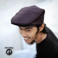 FREEBIRD FLATCAP BROWN / NEWSBOY / TOPI PELUKIS COKLAT