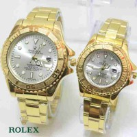 ROLEX SEPASANG GOLD COVER SILVER