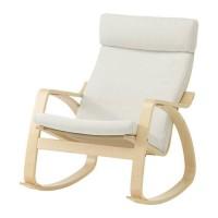 harga IKEA POANG Kursi Goyang - Veneer kayu birch, finnsta putih Tokopedia.com
