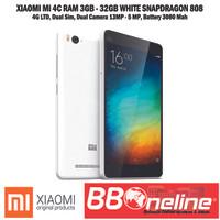 XIAOMI Mi 4C WHITE 4G QUAD CORE 1.44 GHz RAM 3GB / 32GB GRS 1 TAHUN