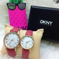 JAM TANGAN DKNY COUPLE PINK