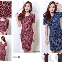 Gadriella Batik Bodycon Mini Dress