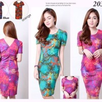 Semiezha Batik Bodycon Mini Dress