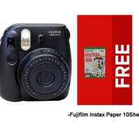 Paket Spesial Fujifilm Instax Mini 8 with Paper 10 Sheets - Black
