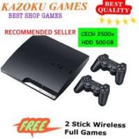 PS3 slim 500gb seri 2500x CFW terbaru