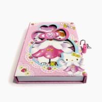 BUKU DIARY / BUKU HARIAN HELLO KITTY + KUNCI GEMBOK (YS - 04120)
