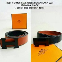 Belt HERMES REVERSIBLE LOGO BLACK