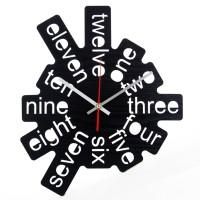 Jam Dinding Unik Artistik - Artistik Layer 1 Black - Garansi 2 Tahun