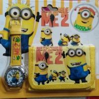 Jam Tangan Anak + Dompet Minios / Jam Tangan Minios / Jam Tangan Cewe