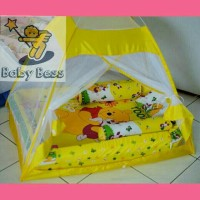 harga 1 set kasur bayi, bantal guling, dan kelambu eksklusif Winnie The Pooh Tokopedia.com