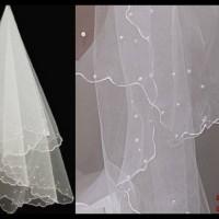 Jual veil pearl pengantin penutup kepala wedding gaun akad nikah Murah