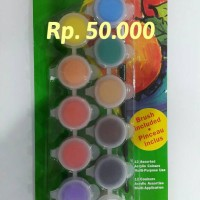Reeves Acrylic Pot 12 Warna 5ml + Brush
