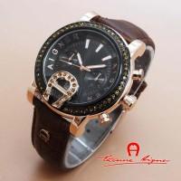 Jam Tangan Wanita - Aigner Bari Donna Diamond A5020 Brown Gold