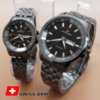 Jam Tangan Couple - Swiss Army TW0967 Couple FullBlack