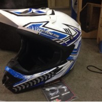 harga Helm Cross - Extreme Ride Yamaha ORI / Blue Tokopedia.com