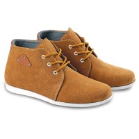 Sepatu Kets Casual Sneakers Kulit Pria Cowok Keren BY86 Tan