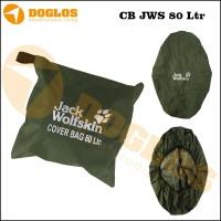 harga Rain Cover bag 80 Liter JWS Jack Wolfskin tas Carrier gunung Green Tokopedia.com