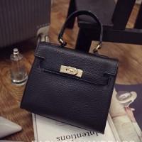 Tas Wanita Kerja/Pesta Kulit Hitam Fashion Korea Import Murah-MF1130