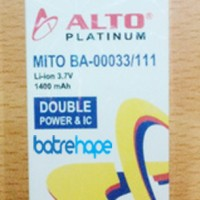Jual Baterai Double Power Mito Ba-00033 Mito Hp Mini 111 Alto 1400Mah Murah