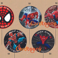 Jual Cupcake topper / toppers Spiderman / Spider-Man (Ulang Tahun / Party) Murah
