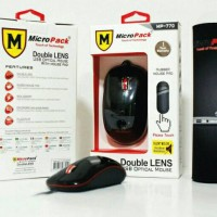 Mouse Double Lens Micro Pack MP- 770 Silent Mouse free Mousepad