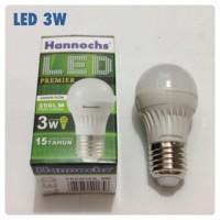 Lampu LED Hannochs 3 Watt -Live Time 15 Tahun
