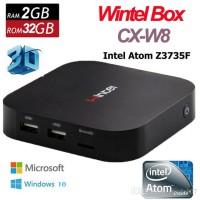 CX-W8 Wintel TV Box Smart Mini PC Atom Z3735F Quad Core Windows 10
