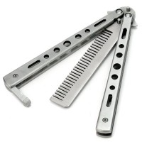 SISIR BALISONG / BUTTERFLY COMB SILVER MERK BENCHMADE