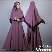Gamis Bergo Aurel Ummi Purple