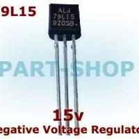 IC 79L15 7915 -15V 100mA 0.1A Negative Voltage Regulator TO-92