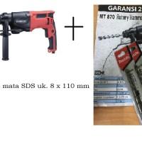 Mesin Bor Beton Rotary Hammer 22 Mm Maktec MT870