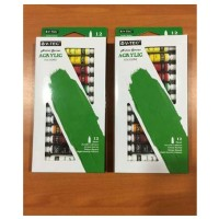Mini V-TEC Acrylic Colour Set Type 612 12warna 6ml