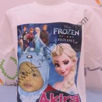 Kaos Foto pakai animasi Frozen