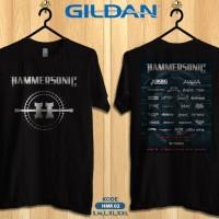 Kaos musik hammersonic 2016-Kaos band metal original gildan hmr02