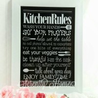 Poster 16 : Wall Decor Kitchen Rules