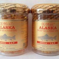 K-MAX ALASKA Deep Sea Fish Oil Omega 3 6 9 / Minyak Ikan Tutup Gold